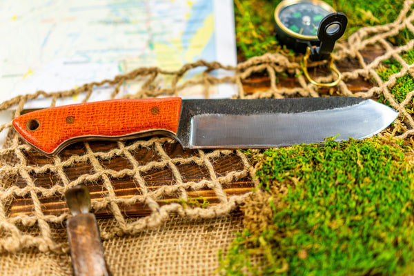 Brüder Brute Camp Knife- Hunter Orange - 5160 Steel