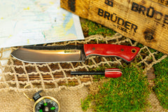 Brüder Brute Camp Knife- Red - 80crv2 Steel