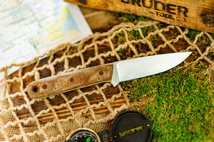 Brüder Alger Bushcraft Knife - Rust/Burlap - Hollow Grind