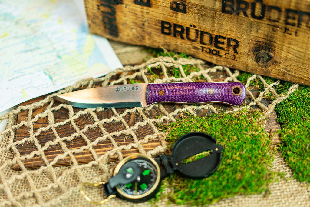 Brüder Alger Bushcraft Knife - Purple
