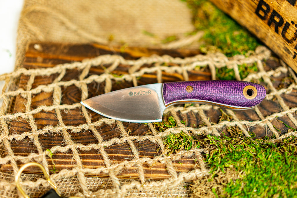 Brüder Skinner/EDC knife - Purple Burlatex