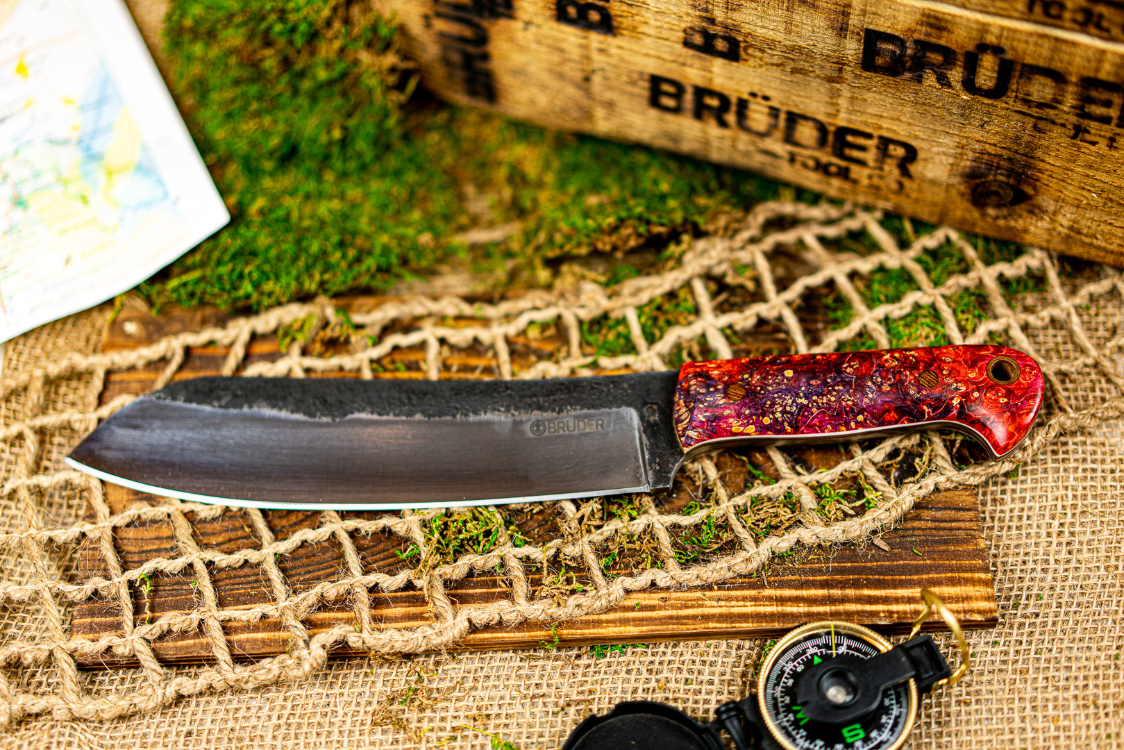 Brüder Brute Camp Knife-Fuchsia/Purple - 80crv2 Steel