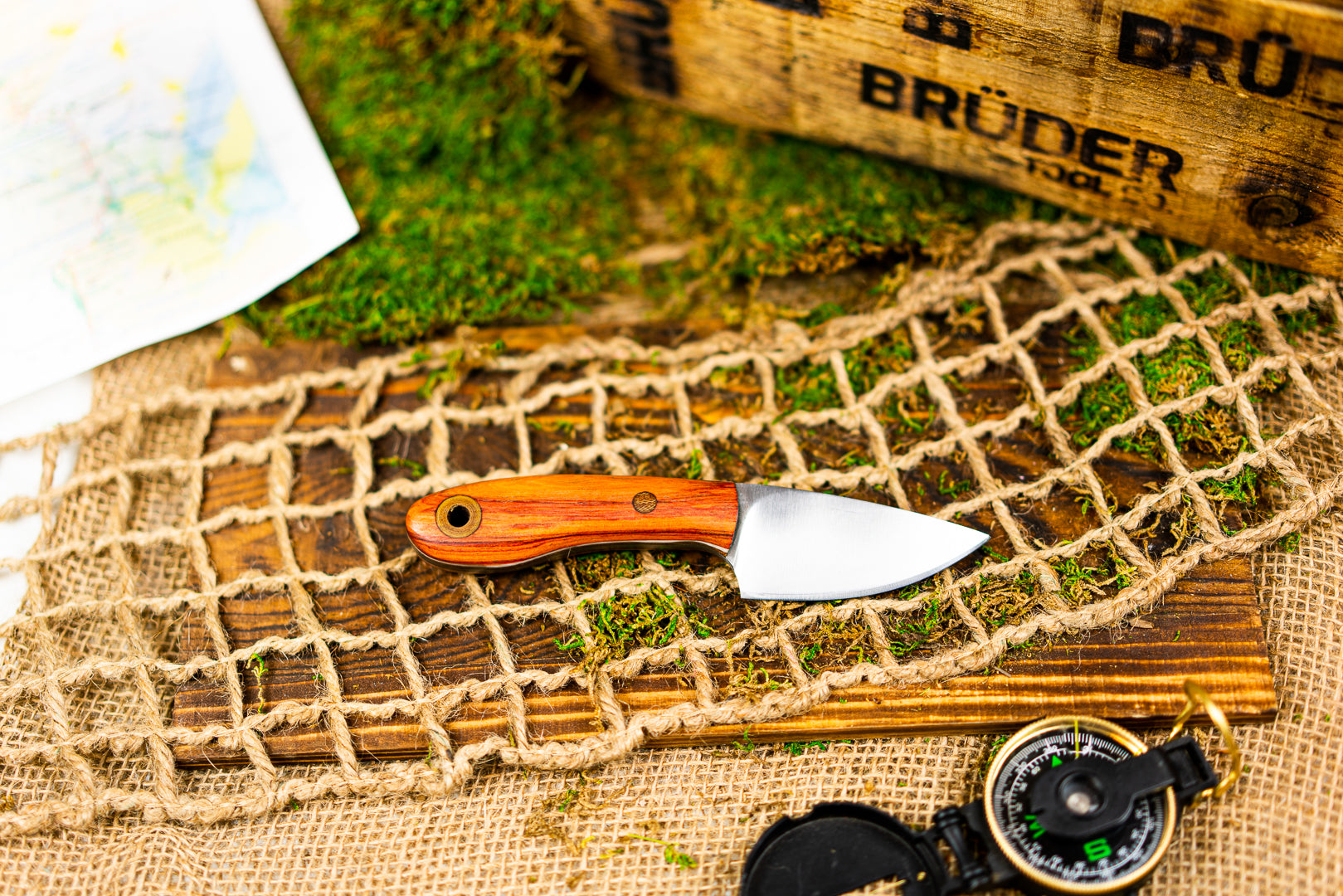 Brüder Skinner/EDC knife - Canary Wood