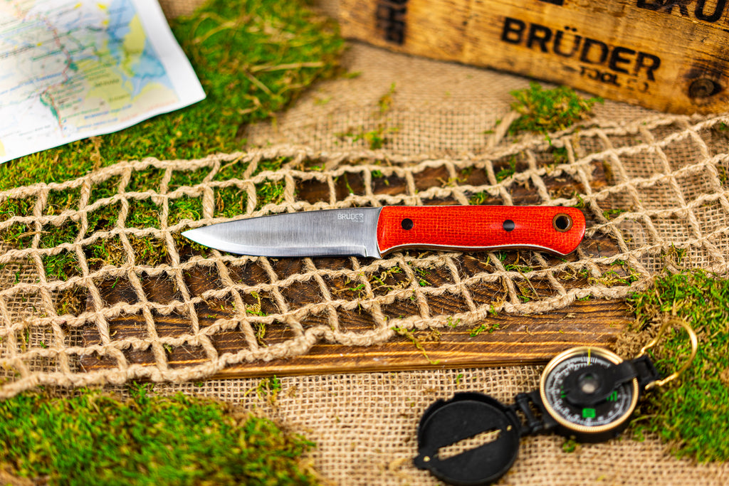 Brüder Alger Bushcraft Knife - Burnt Orange Burlatex