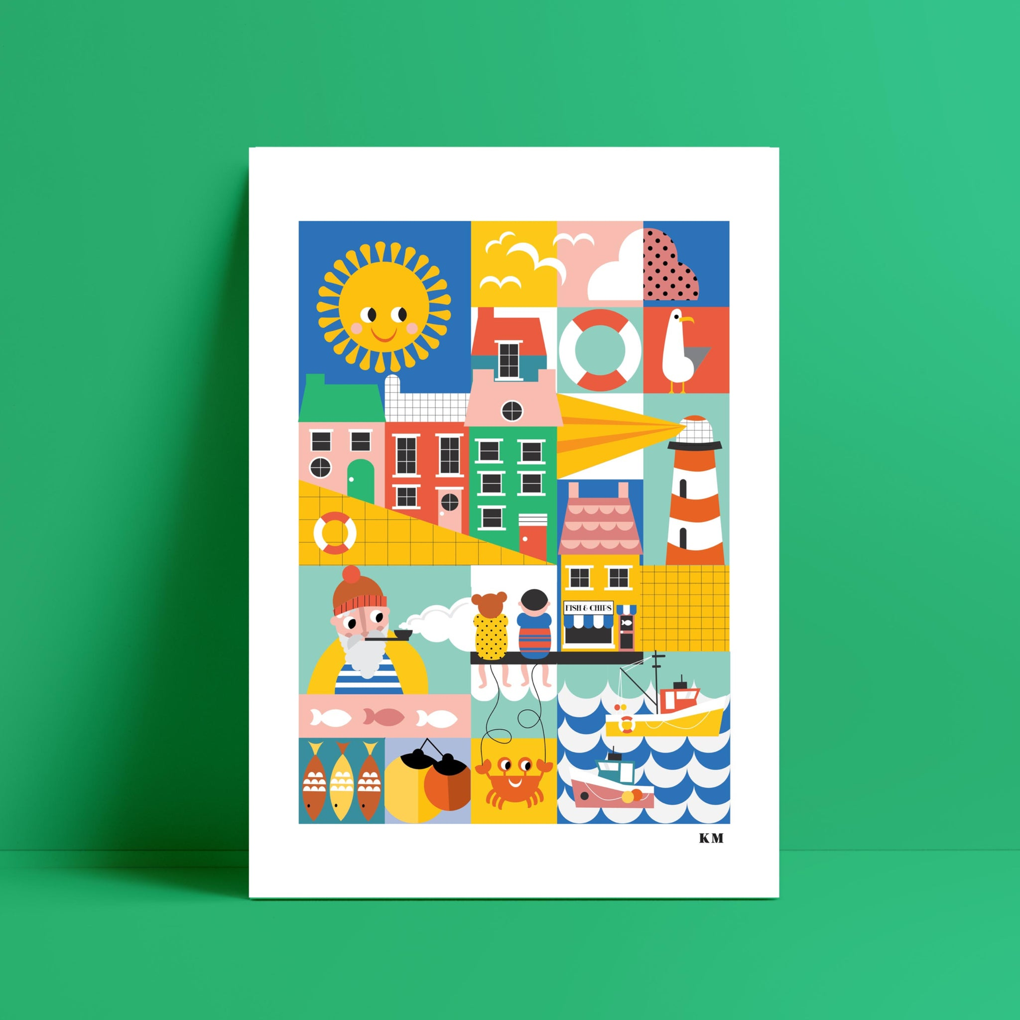 Harbour Print - Kirsty Mason Designs