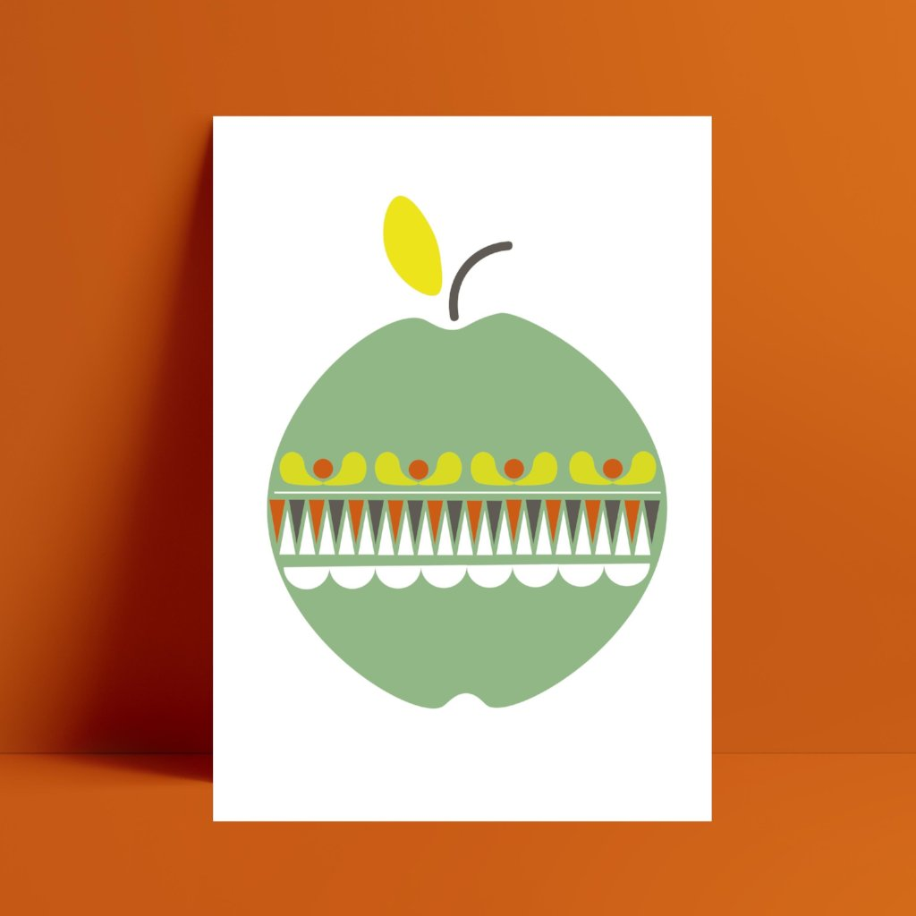 Apple Print - Kirsty Mason Designs
