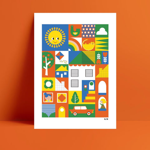 Good Neighbours Print - Kirsty Mason Designs