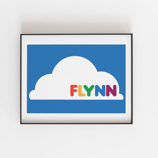 Personalised Bright cloud Print - Kirsty Mason Designs