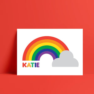 Personalised Rainbow Print - Kirsty Mason Designs
