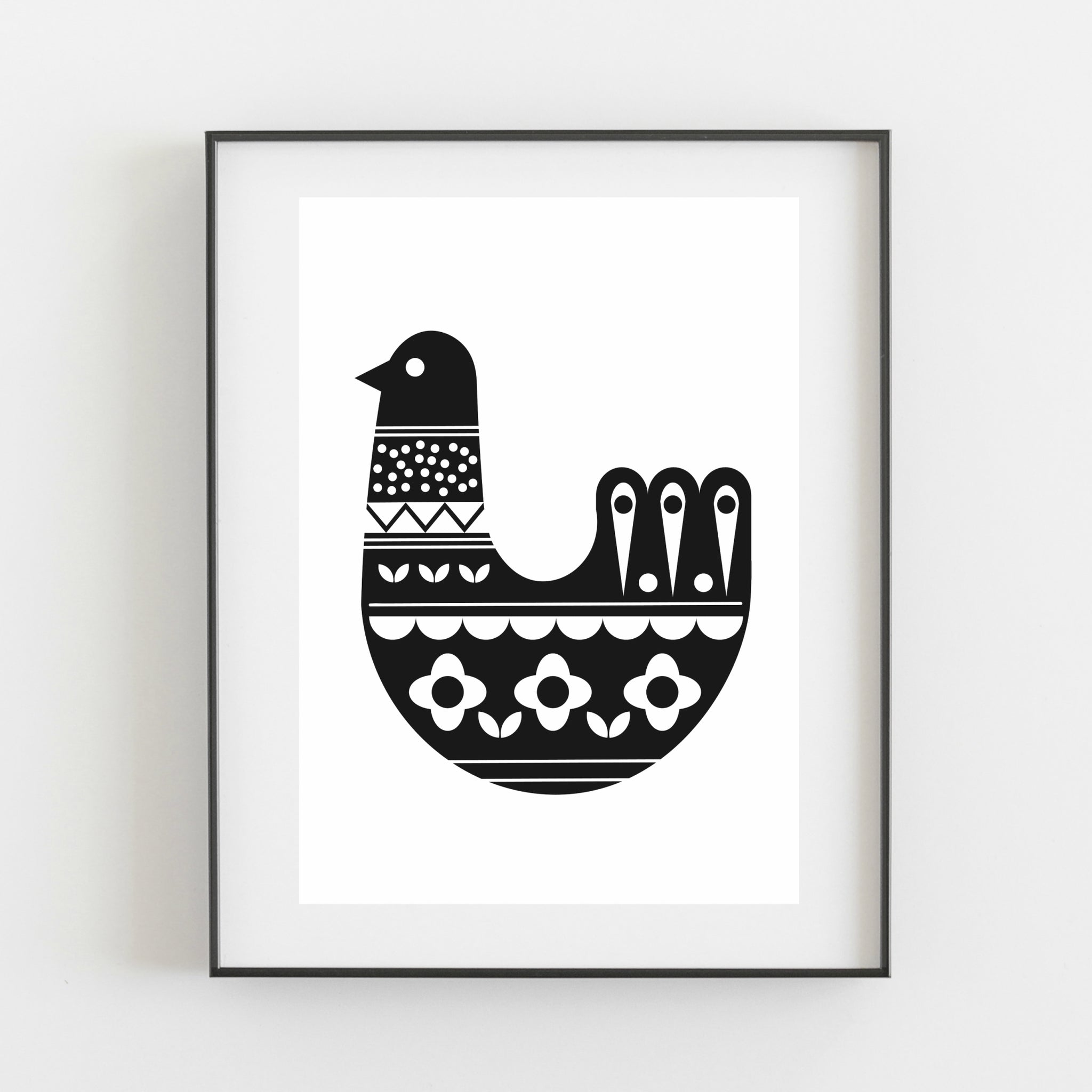 Bird Print - Black - Kirsty Mason Designs
