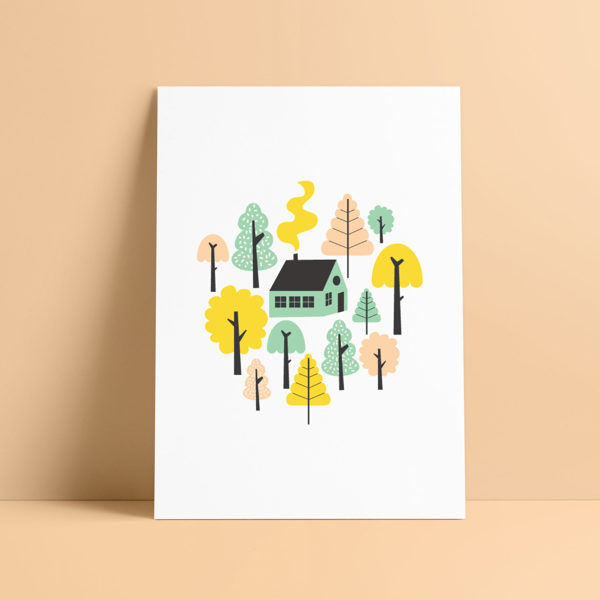 Cabin in the woods Print - Kirsty Mason Designs