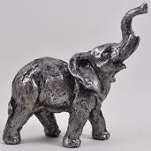 Antique Silver Elephant Medium Figure