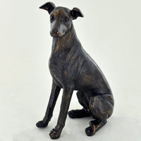Bronze Whippet Sitting