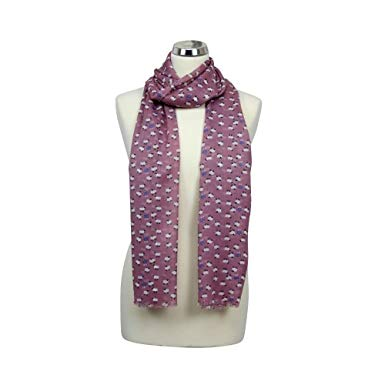 Sheep Print Scarf in Candyfloss Pink
