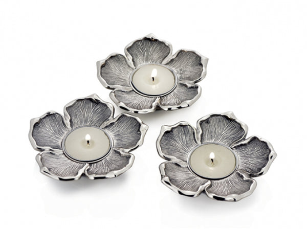 Silver Tea Light Holder - Medium