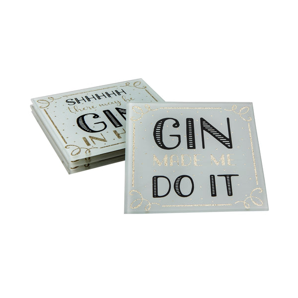 Gin Time Coasters - Set of 4