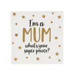 Metallic I'm A Mum Coaster