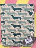 Sausage Dog Print Scarf in Light Sage