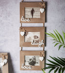 Live, Laugh, Love Triple Photo Frame