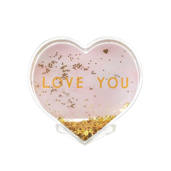 Love You Heart Shaped Photo Frame