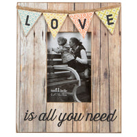 Rustic Bunting Photo Frame - Love Is All You Need