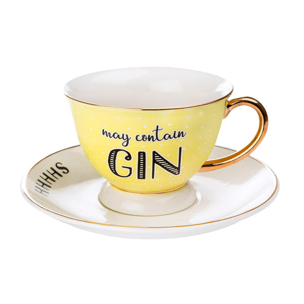 May Contain Gin Cup & Saucer