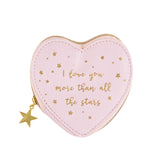 Pink Coin Purse With Gold Scattered Stars
