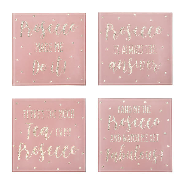 Prosecco Party Time Coasters - Set of 4