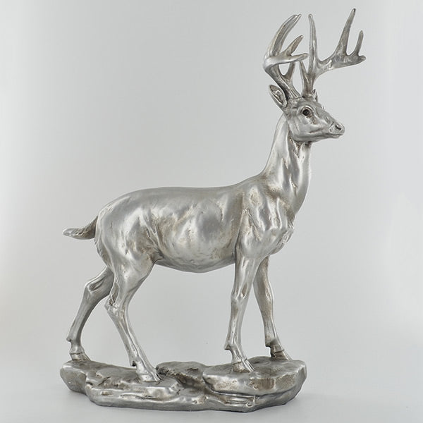 Silver Standing Stag