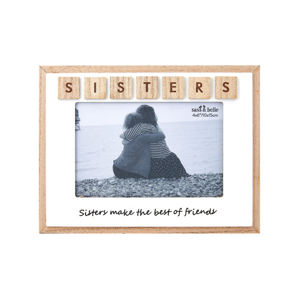 Sisters Scrabble Photo Frame