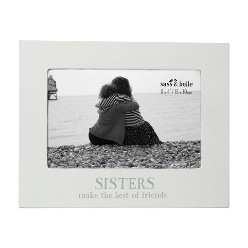 "White Chabby Chic ""Sisters Make The Best Friends"" Photo Frame"