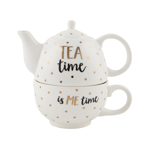 Tea Time Is Me Time Teapot For One