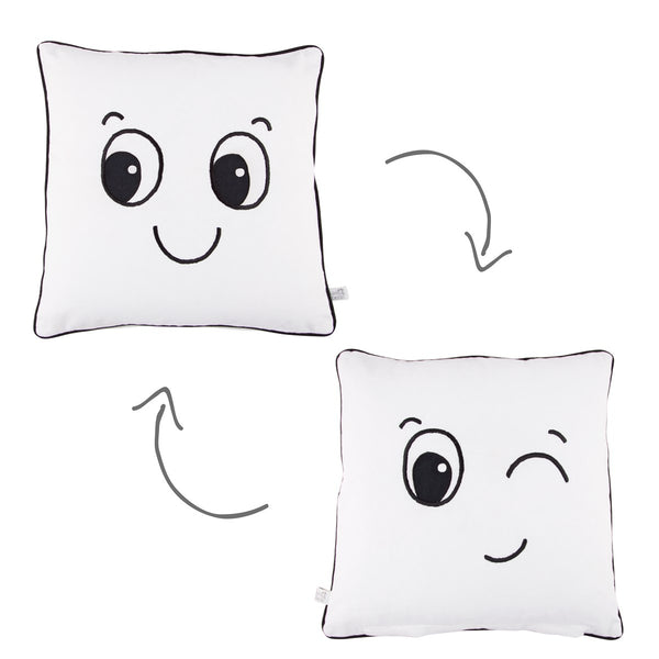 Winking Fun Faces Cushion