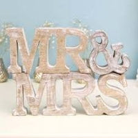 Rustic Wooden Mr & Mrs Letters