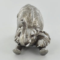 Antique Silver Arching Elephant