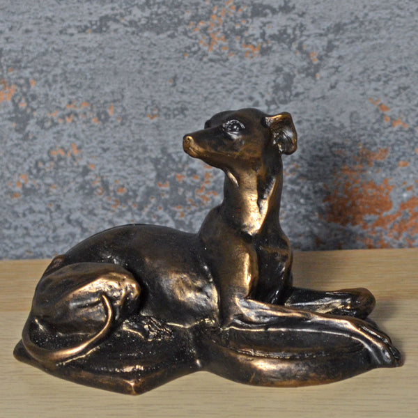 Bronze Whippet Laying Down