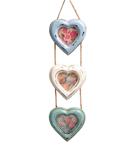 Triple Heart Hanging Photo Frame