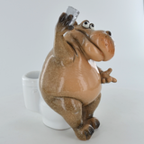 Comical Hippo - On A Bog