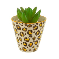 Leopard Print Mini Planter