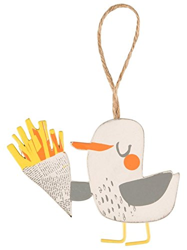 Naughty Seagull with Chips Hanging Decoration