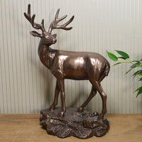 Stag Cold Cast Bronze Sculpture