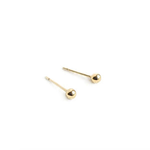 Selah Vie 14k Gold 3mm tiny ball stud earrings