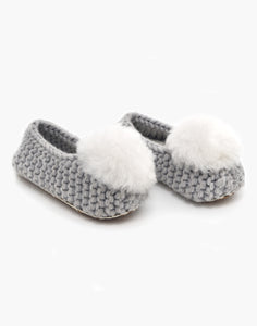 Ballerina Pom Alpaca Slipper Heather Grey