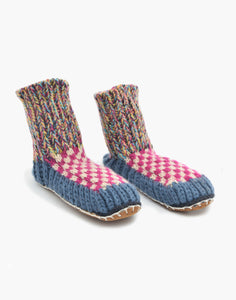 Berkley Knit Slipper sock Blue