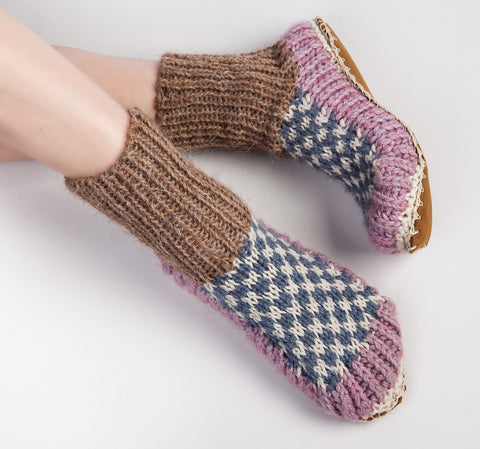 Berkley Knit Slipper Sock Lilac - Ariana Bohling