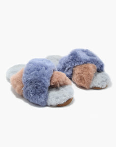 Criss Cross Alpaca Slipper Lilac/Blush/Grey