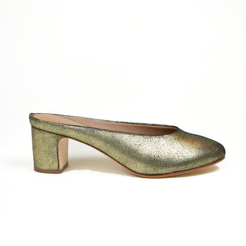 Coco Slip on Mule Gold - Ariana Bohling