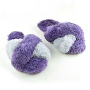 Criss Cross Alpaca Slipper Lilac/Grey - Ariana Bohling