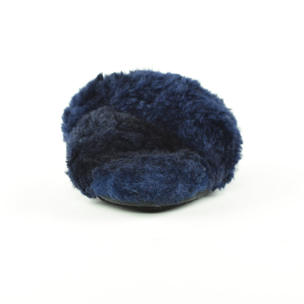 Criss Cross Alpaca Slipper Navy - Ariana Bohling