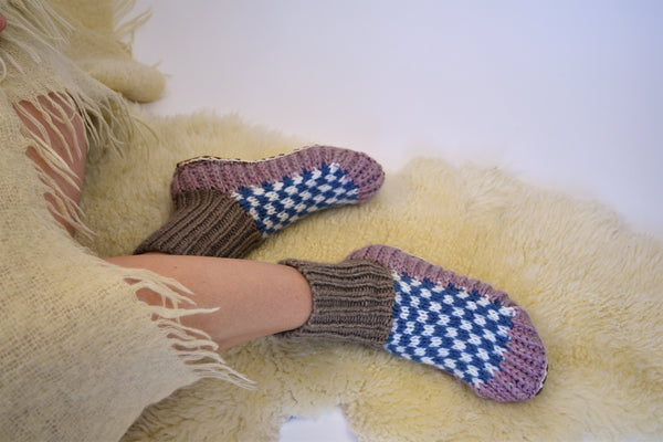 Berkley Knit Slipper Sock Lilac